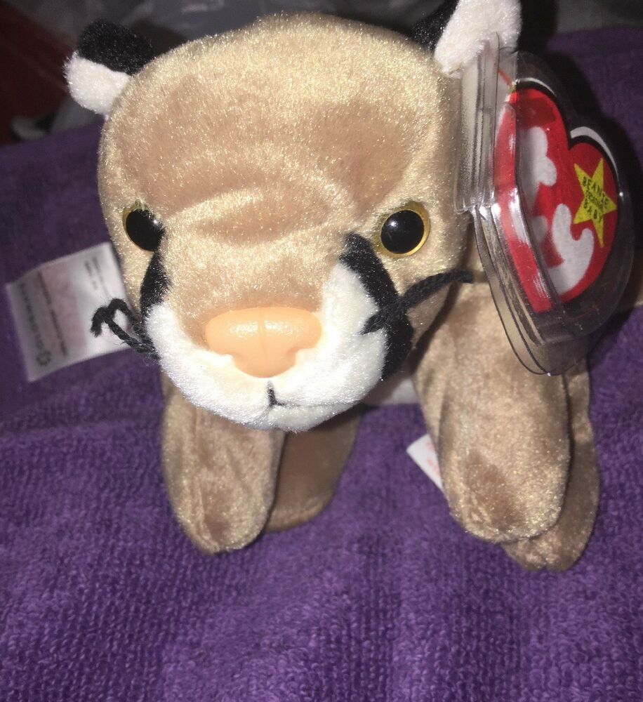 b8ea8d1c13838 Ty Original Beanie Canyon The Cougar Wild Cat With Tag Protector- 1998 -  Retired