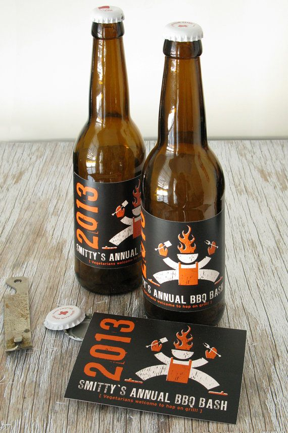 Bbq Party Invite And Beer Label By Garagemonk On Etsy 4