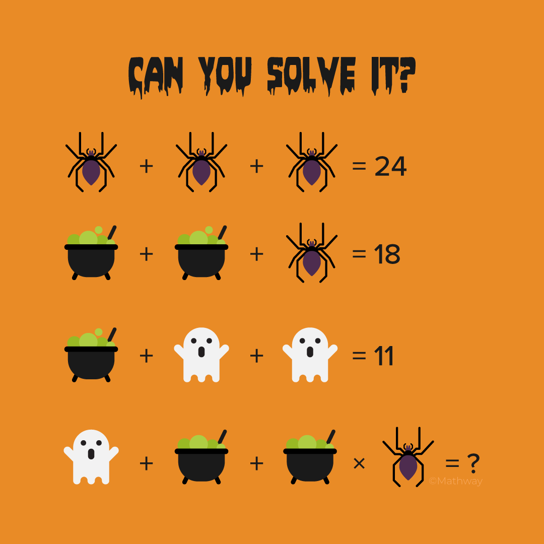Here S A Great Critical Thinking Halloween Math Puzzle Try It Out For Yourself Or With Your Students Today Maths Puzzles Math Pictures Halloween Math [ 1080 x 1080 Pixel ]