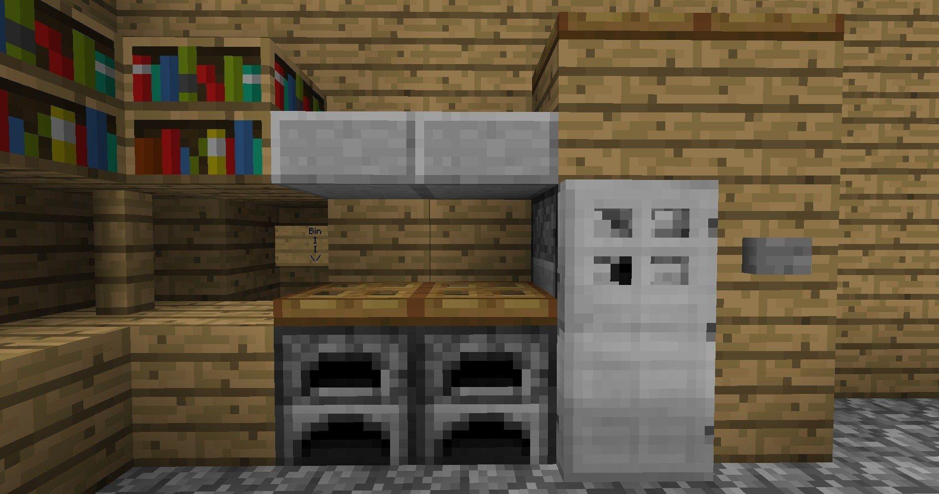 Minecraft Kitchen Minecraft Furniture Kitchen Modern Style Wooden Minecraft Minecraft Kitchen Min Minecraft Kitchen Ideas Minecraft Furniture Minecraft Crafts