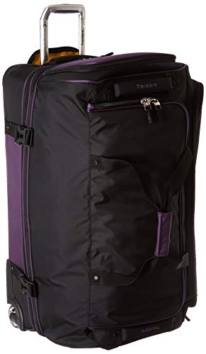 Travelpro Bold 30 Rolling Duffle Bag With Drop Bottom Purple Black Travel Duffels Rolling Duffle Bag Duffel Black Travel
