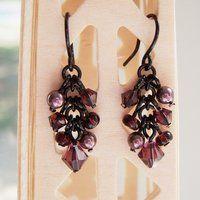 Black and Amethyst Earrings by lulabug