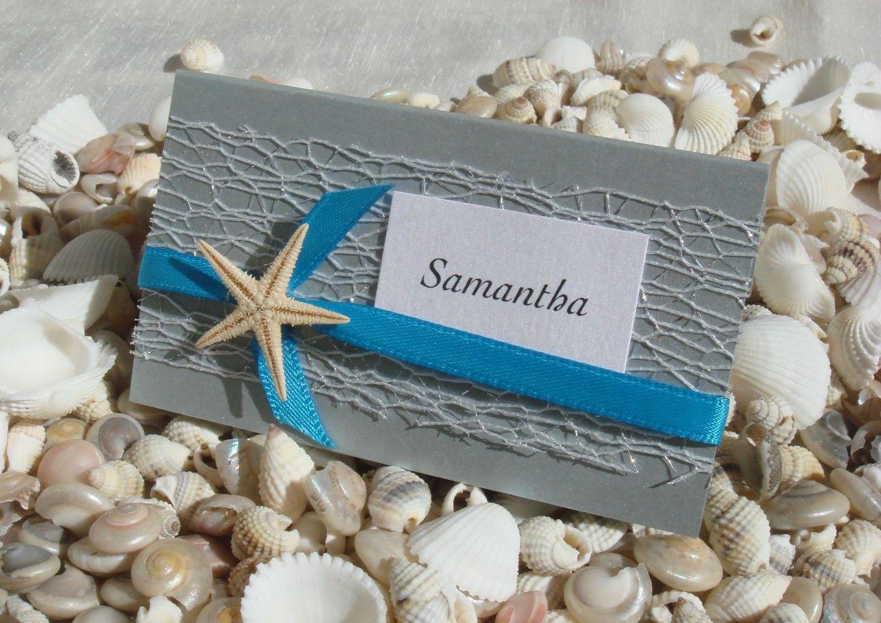 Beach Wedding Place Card DIY Kit ~ Urban Starfish SILVER ~ 25 pcs ...