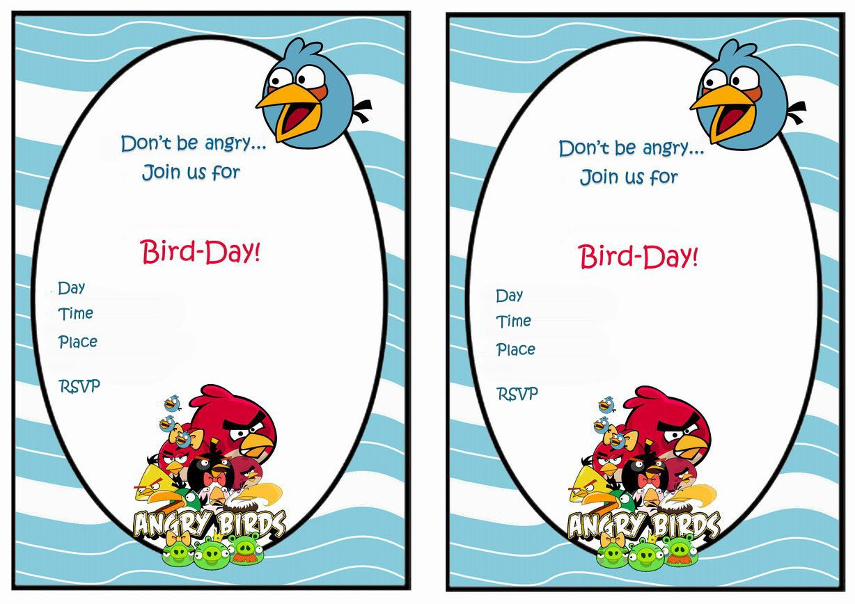 Angry Birds FREE Printable Birthday Party Invitations Birthday - Party invitation template: angry birds birthday party invitation template free
