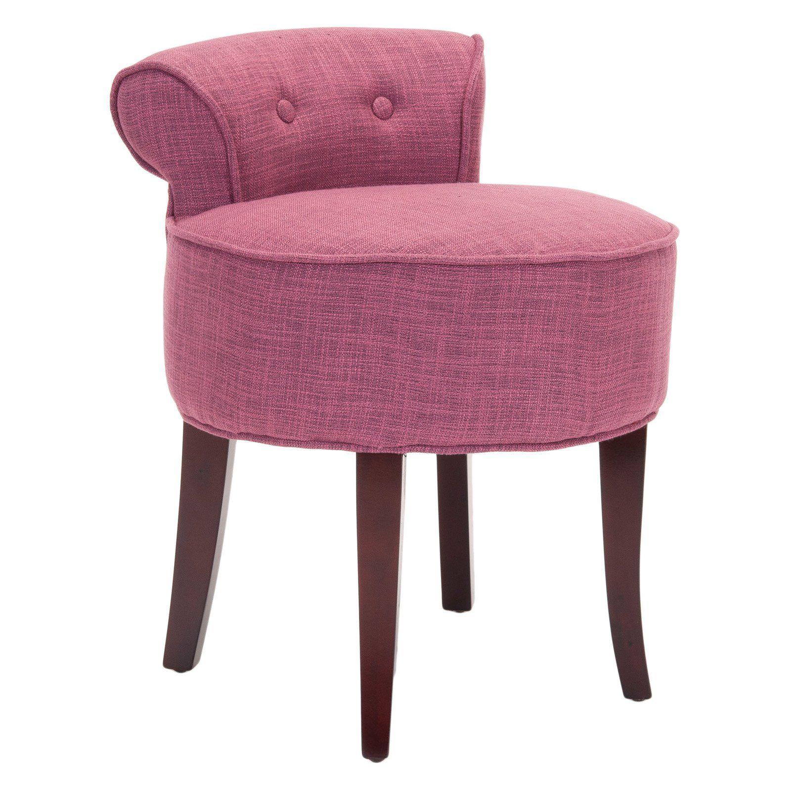 Astounding Safavieh Georgia Round Vanity Stool Pink In 2019 Vanity Machost Co Dining Chair Design Ideas Machostcouk