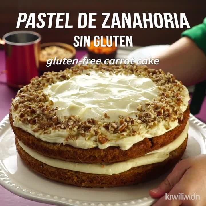 Pastel De Zanahoria Sin Gluten Video Receta Video Receta De Pastel De Zanahoria Pasteles Deliciosos Recetas Fáciles De Comida