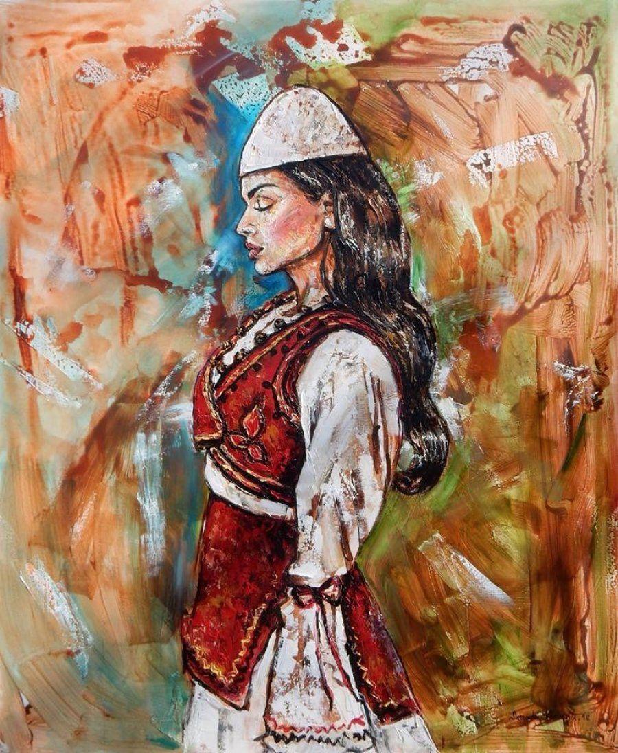 Albanian Girl Art Drawings Sketches Simple Albanian Culture Art