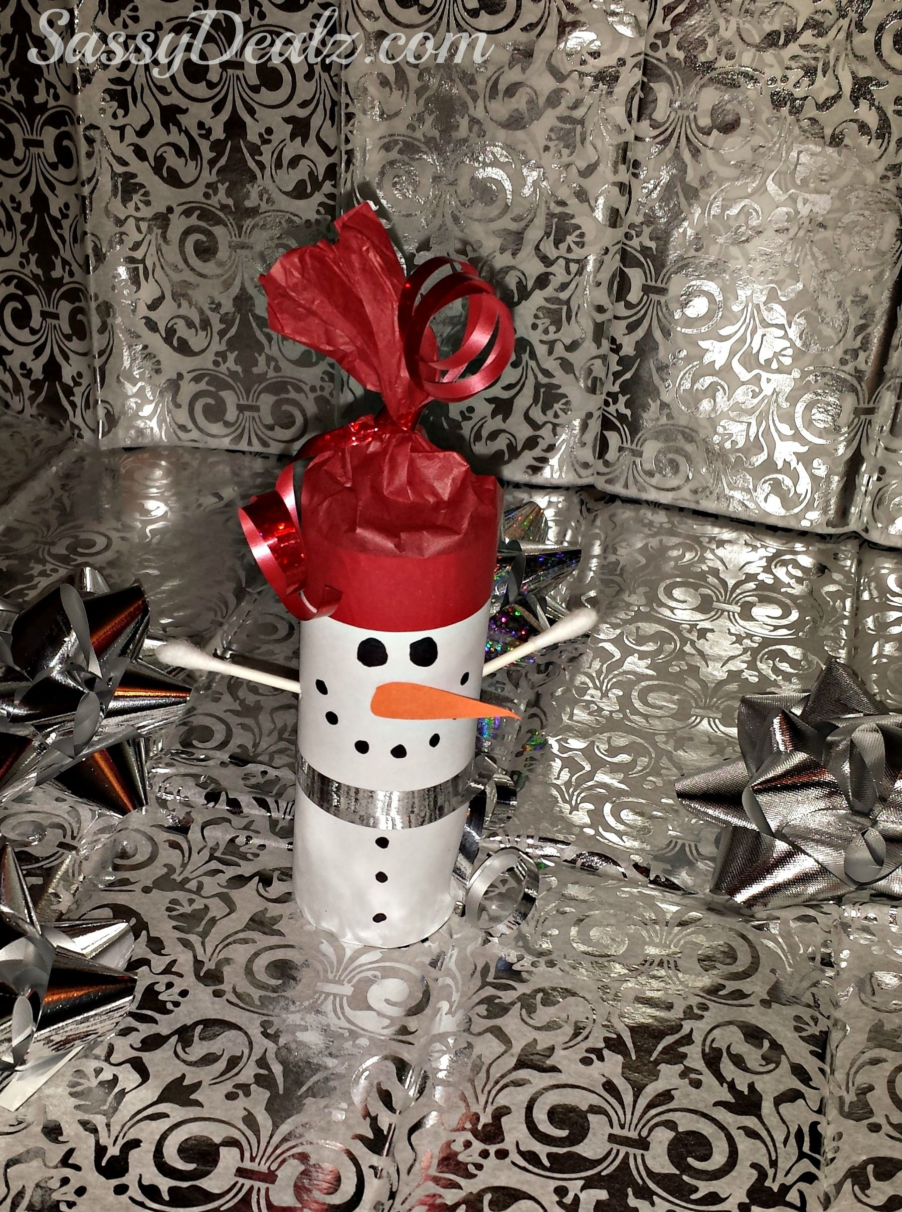 DIY Snowman Toilet Paper Roll Craft For Kids (Cute Christmas Project ...