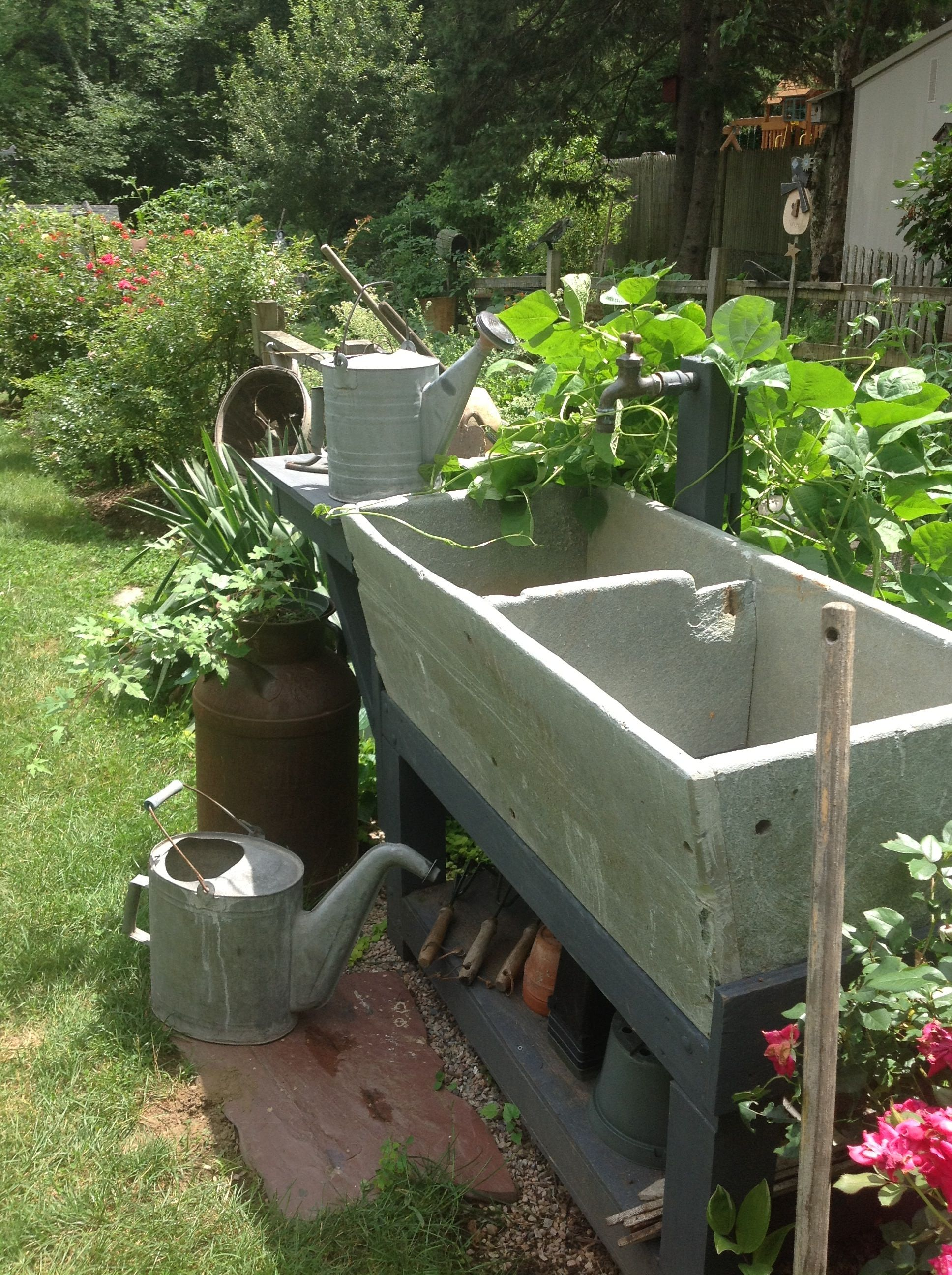 Old Soapstone Sinkhandy To Garden For Potting And Watering