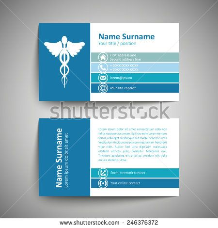 246376372jpg (450×470) Design-business card Pinterest - business card template for doctors