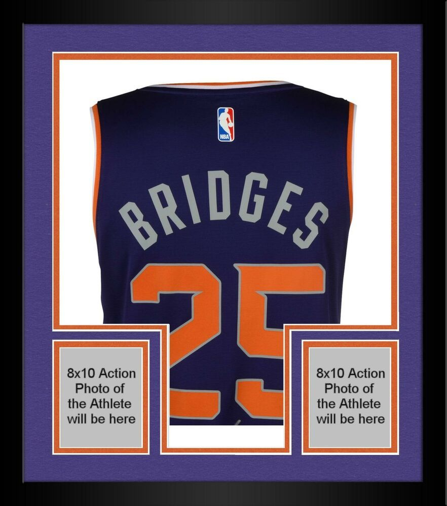 Framed Mikal Bridges Phoenix Suns Autographed Fanatics Purple Fastbreak Jersey Sportsmemorabilia Autograph Basketb Phoenix Suns Sports Uniform Design Jersey