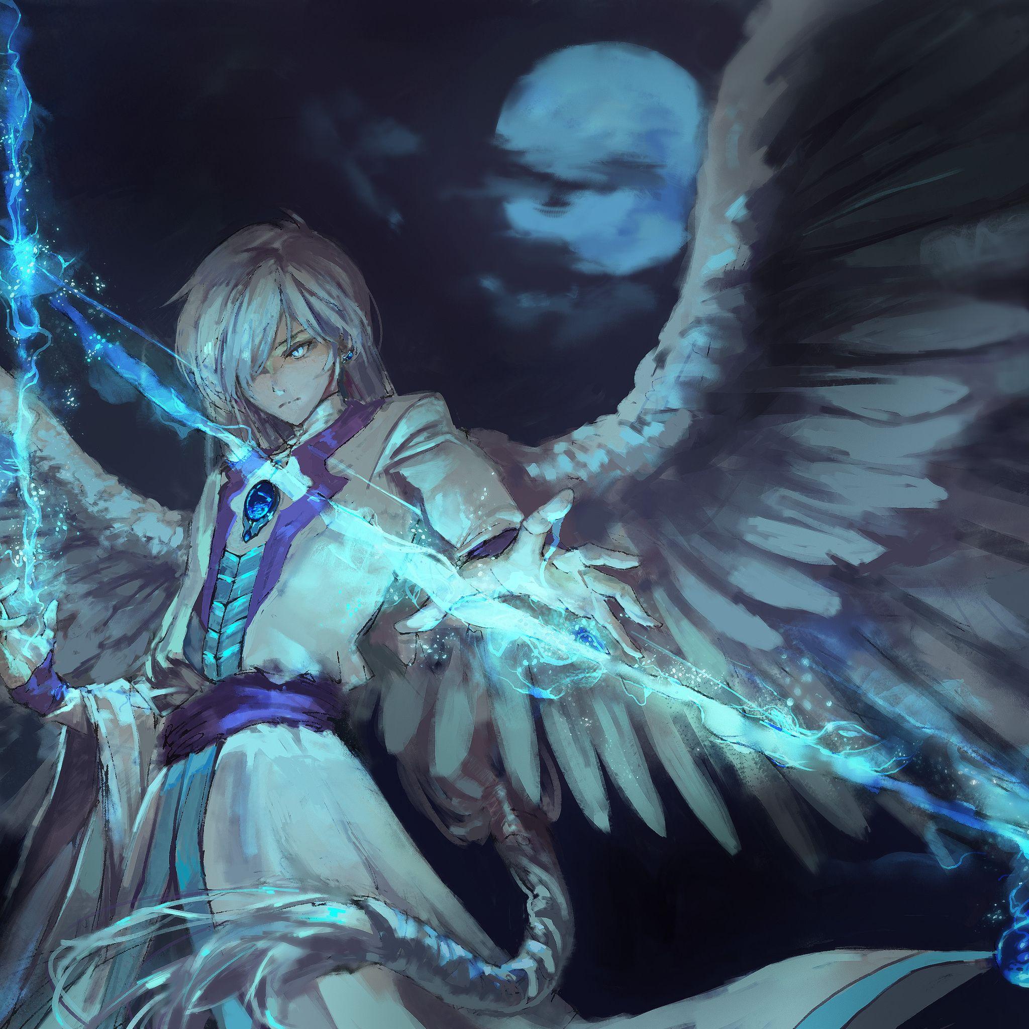 2048x2048 Anime Angel Boy With Magical Arrow Ipad Air Hd Anime Angel Boy Arrow Magical Wallpapers 4k Air Ipad Animea In 2020 Anime Anime Angel Anime Angel Girl