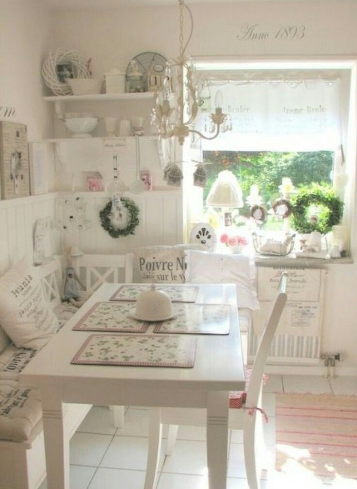 Pindenise Heather On Aaa Diningkitchen  Pinterest  Shabby Brilliant Shabby Chic Dining Room Inspiration Design
