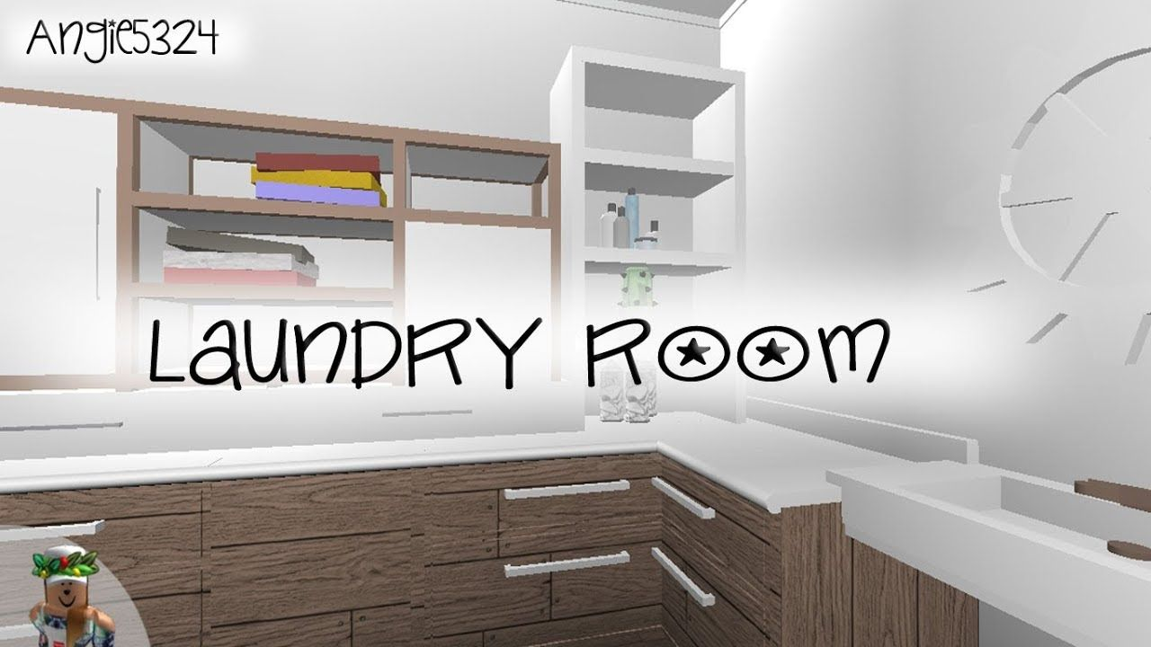 Welcome To Bloxburg Laundry Room Speed Build Living Room Ideas