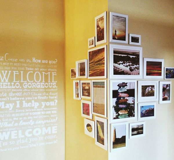 20 Love Photo Wall Ideas | Home Design And Interior … | Pinteres…