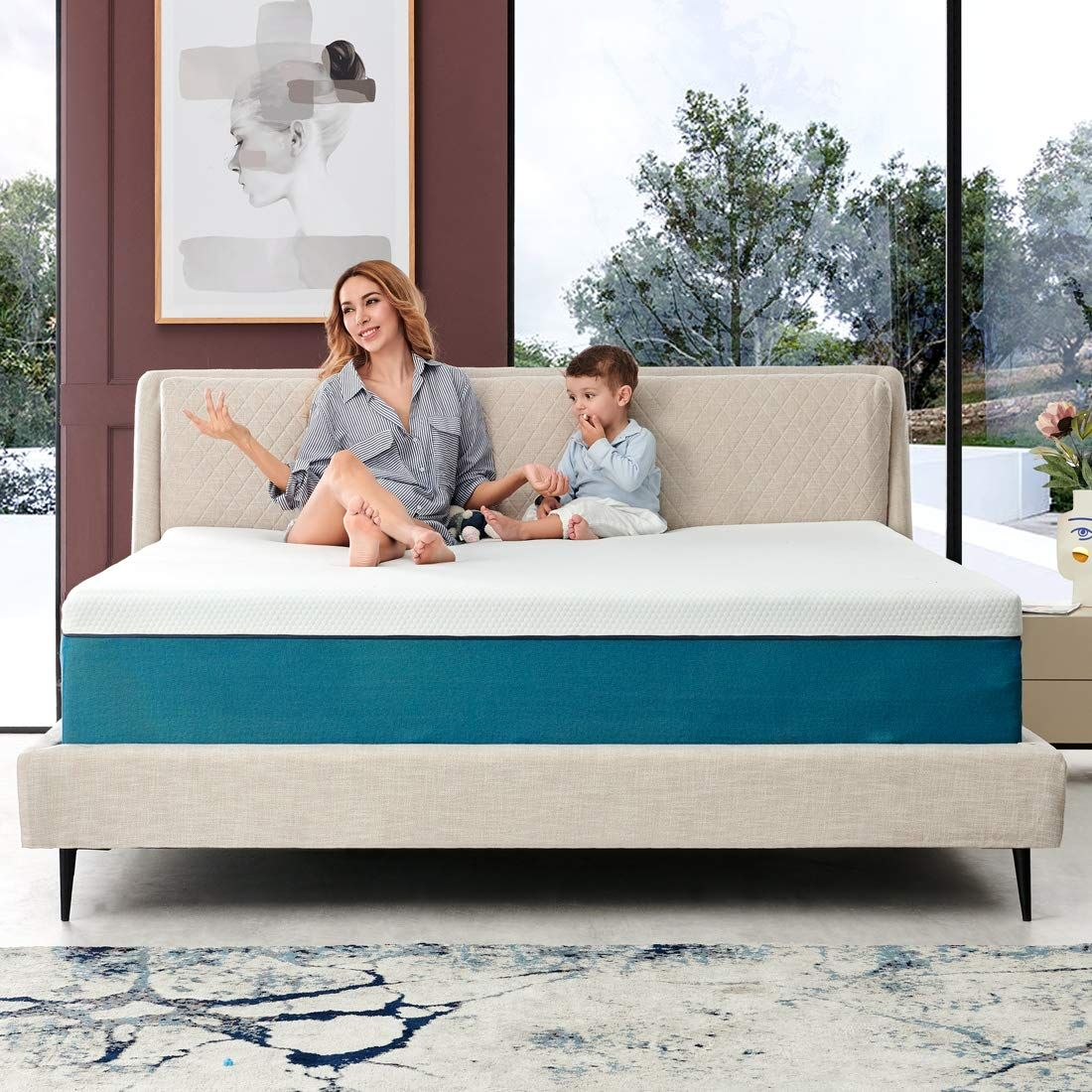 Queen Mattress Iyee Nature 10 Inch Cooling Gel Memory Foam Mattress In A Box Foam Bed Mattress With Certipur Us In 2020 Firm Foam Mattress Foam Mattress Bed Foam Bed