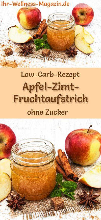 Low Carb Apfel-Zimt-Marmelade - Fruchtaufstrich-Rezept ohne Zucker