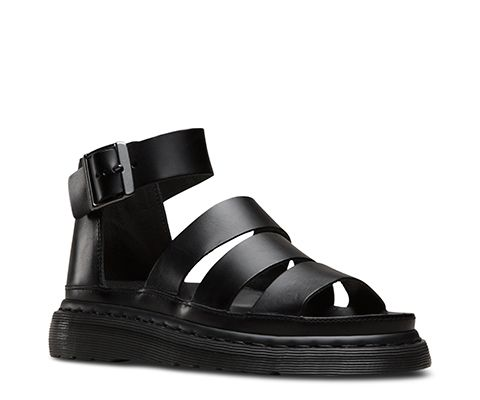 a785e32469d The now-classic Dr. Martens spin on a  90s-inspired gladiator sandal is  made with Brando