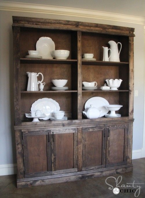DIY Dining Room Sideboard And Hutch