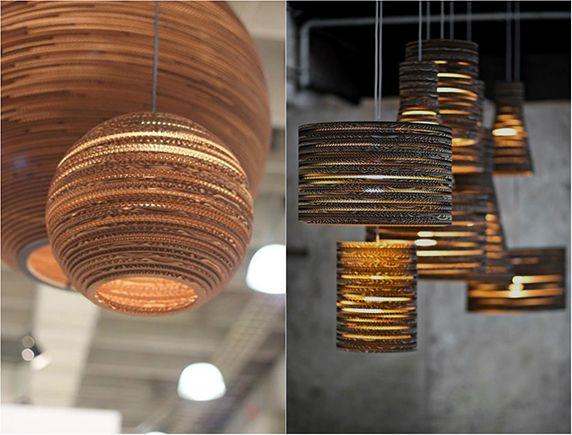 Luminárias de Papelão - Cardboard Lamps - Arquivo da Loris