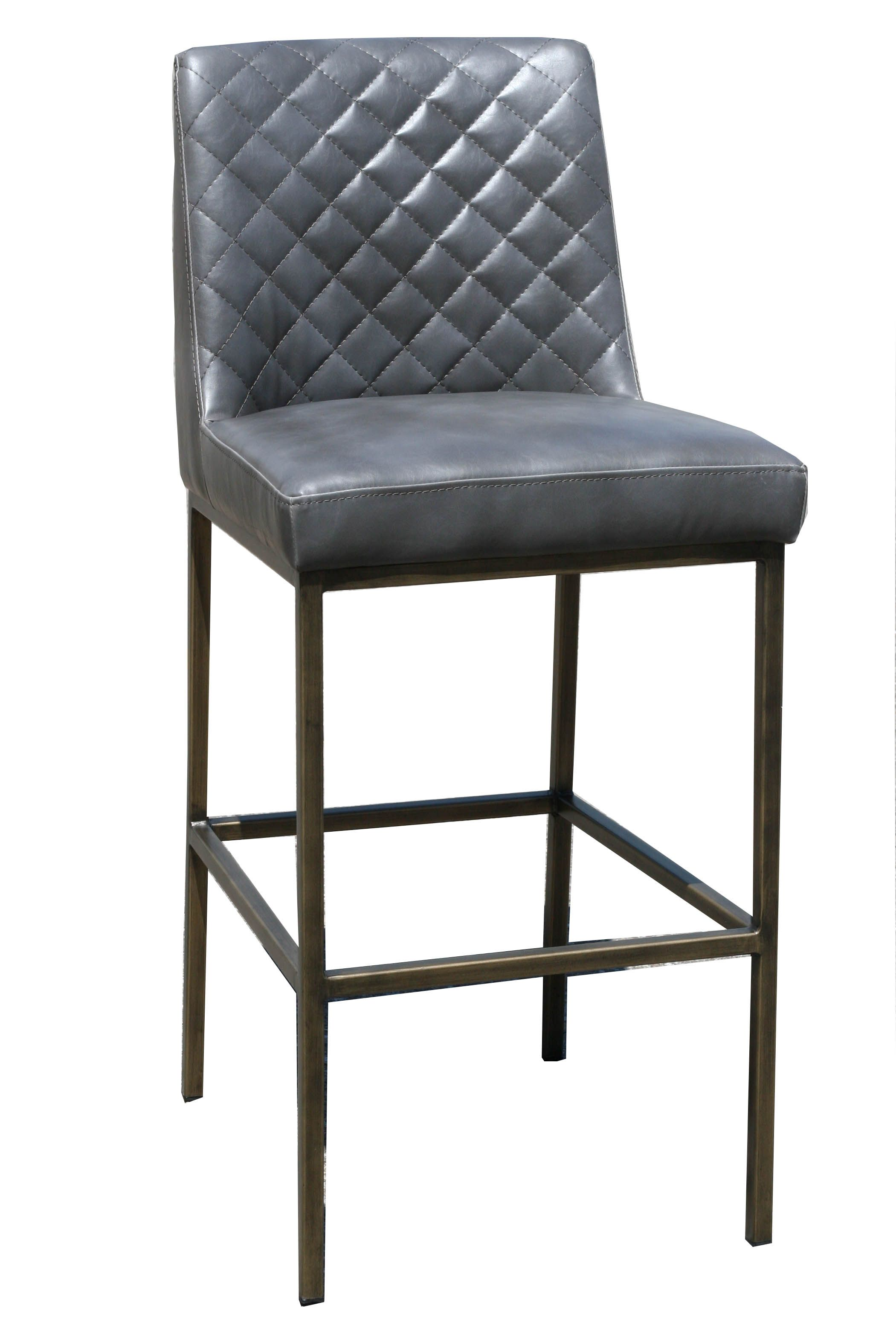 Amazing Grey Leather Counter Stool With Bronze Steel Frame R 1370 Creativecarmelina Interior Chair Design Creativecarmelinacom
