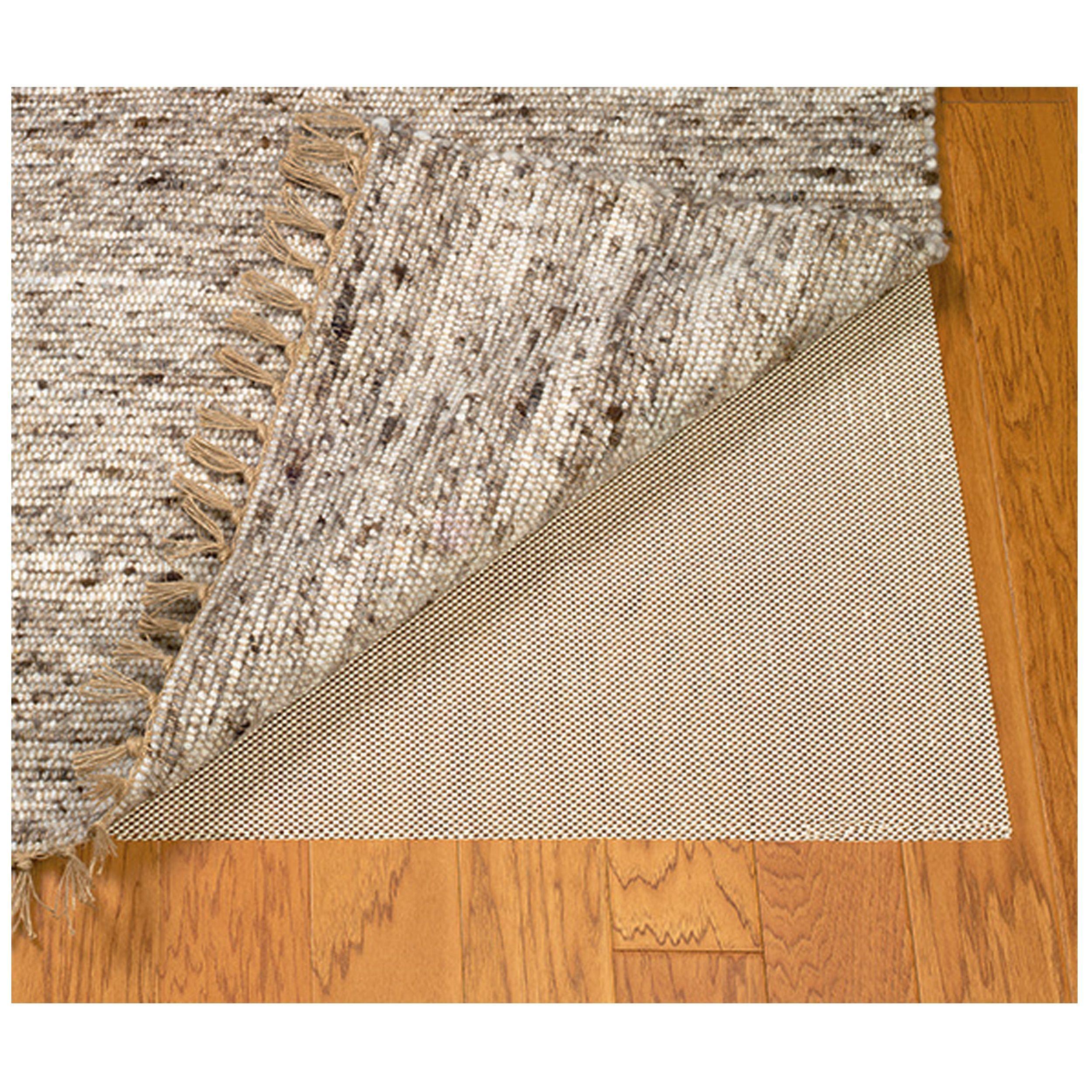 Linon rug pad ultra grip natural area rug underlay u x