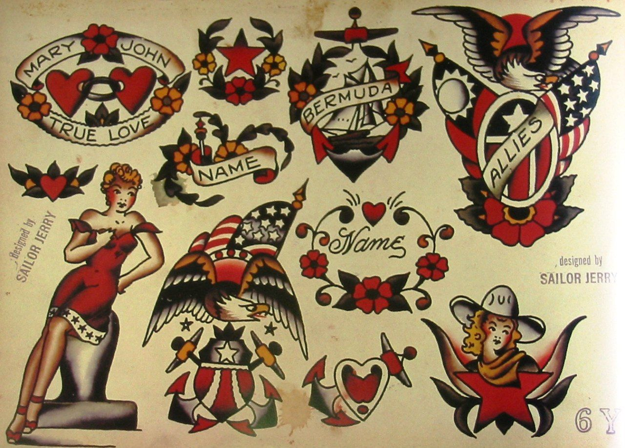 Norman Keith Collins January 14 1911 June 12 1973 was a prominent American tattoo artist famous for his tattooing of sailors he was also known as Sailor Jerry