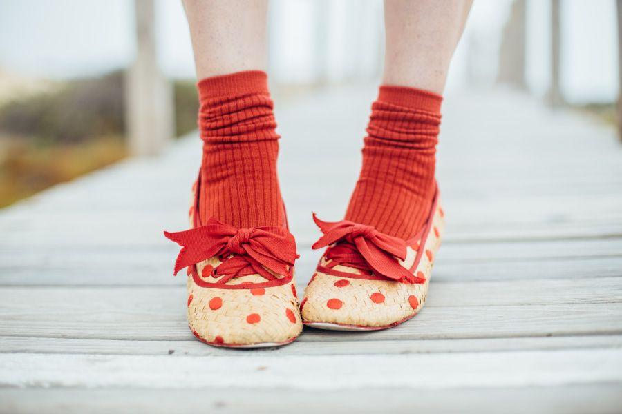 Silk rib crew socks by Tabbisocks