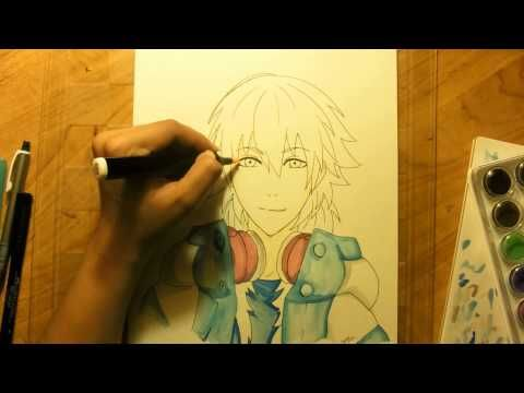 Speed Drawing Aoba Seragaki from Dramatical Murder (Dmmd) - YouTube