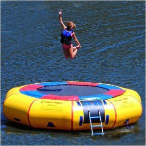 Was So Much Fun At the Lake    Island Hopper 15 feet Classic Water Trampoline for $2,399