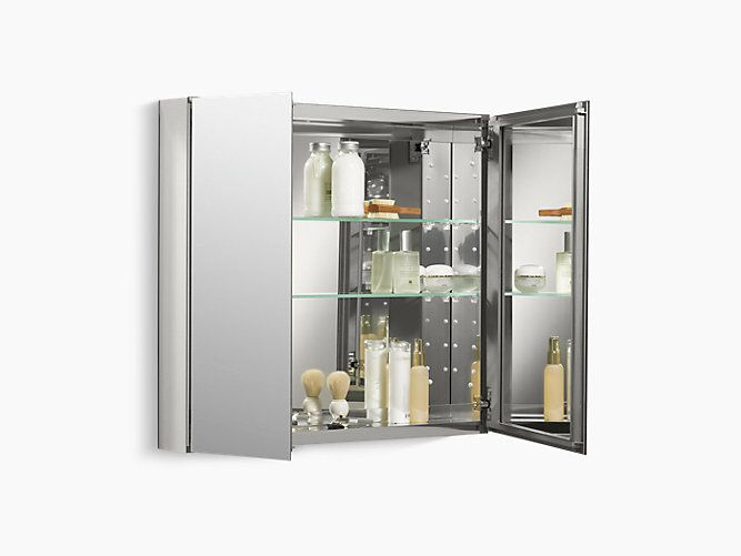 The K 99893 Na Medicine Cabinet Features Double Doors With Two