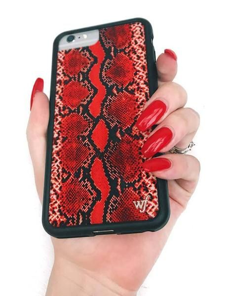 quality design b152f a344c Red Snakeskin iPhone 6/7/8 Case – Wildflower Cases : use code ...