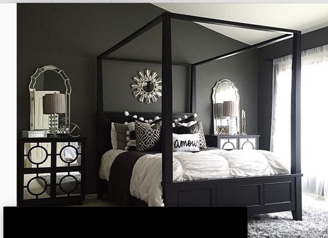 Master bedroom grey and white  Pin by Jacquelyn Andrews on Condo  Pinterest  Condos and House