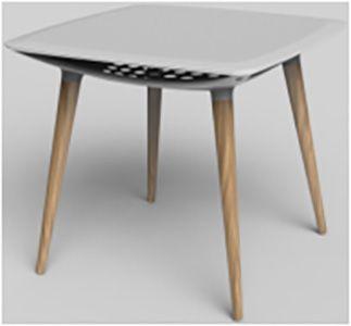 TABLE CARREE A PATTES EN BOIS | Code BMR :050-2447