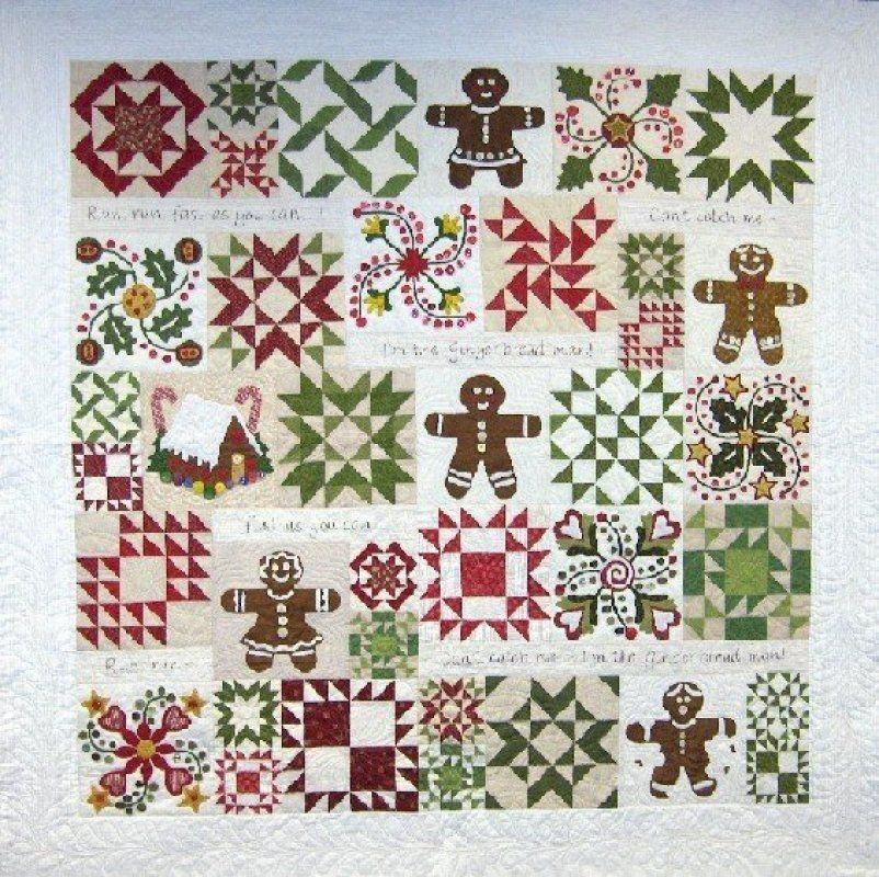 Gingerbread Joy Quilt by Sue Garman. pattern set $78.00 on ... : quakertown quilts - Adamdwight.com