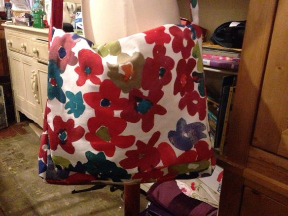Ikea fabric messenger bag.