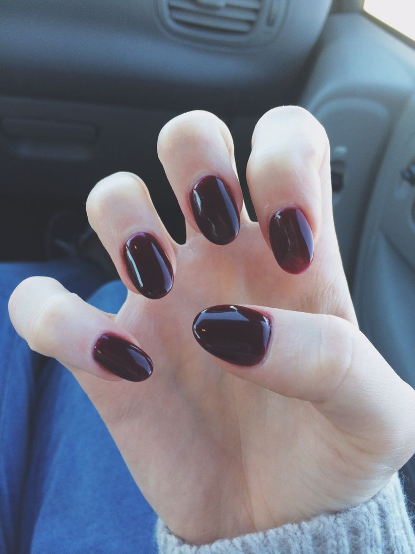 Dark red nails for fall | Nails | Pinterest | Dark red nails, Red ...