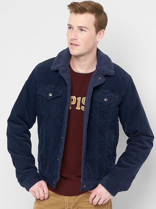 Gap Sherpa-lined Icon cord jacket   Products