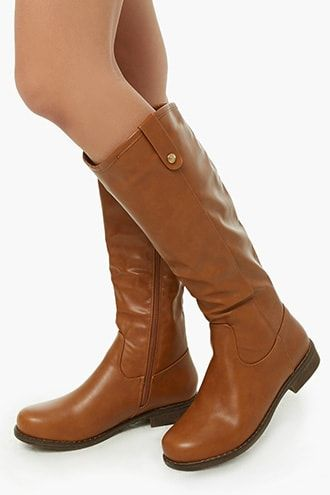 9d7e5170b3a Faux Leather Knee-High Boots