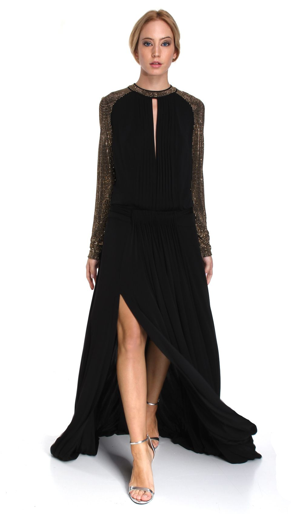 Just cavalli black and gold maxi dress spring ball pinterest
