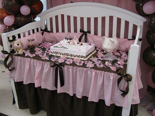 Crib Cake Table   If You Are Giving A Crib What An Awesome Way To Give · Baby  Shower ...