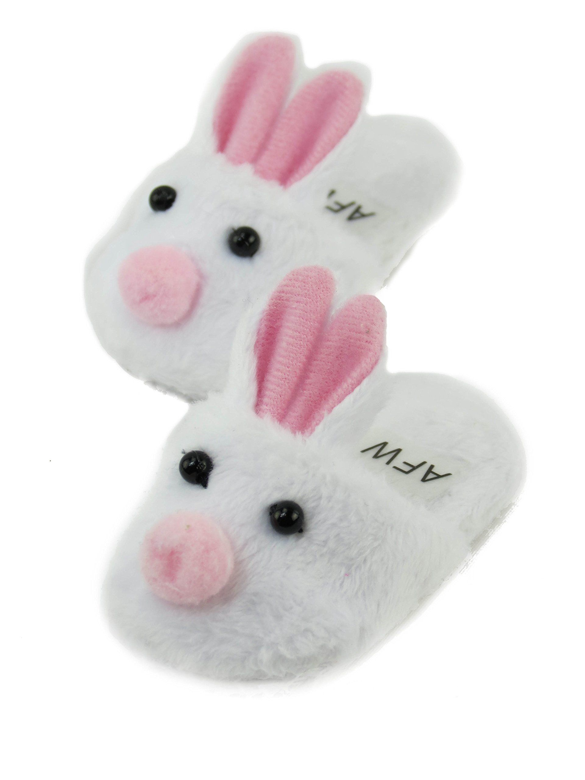 d60ba90bf234 Cute White Bunny Slippers with Pink Ears