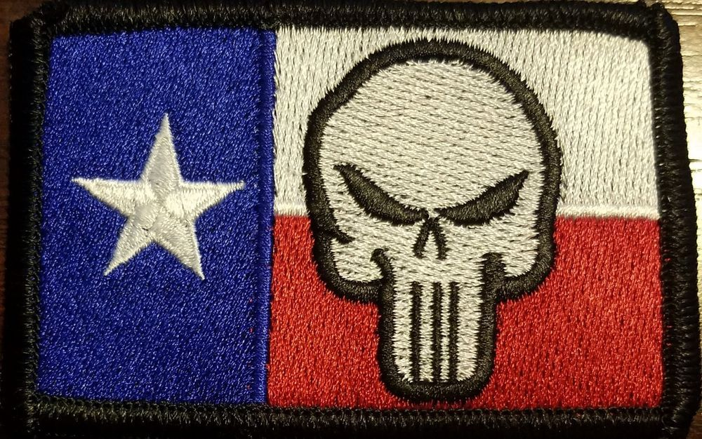 Revenger Texas Flag Iron On Patch Morale Tactical Emblem Black Border 4 Ebay Iron On Patches Embroidered Patches Texas Flags