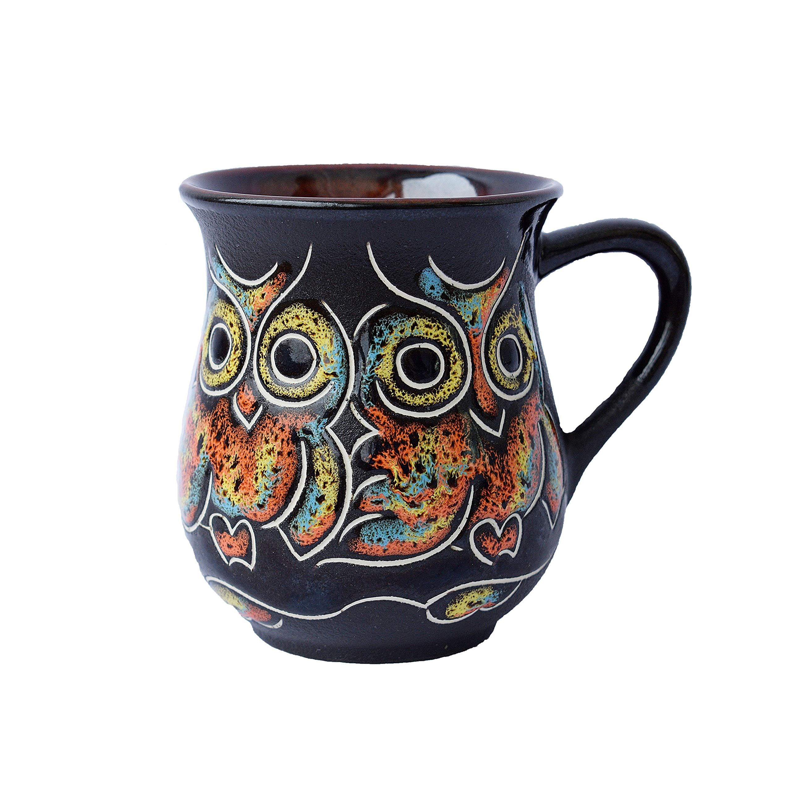 Pottery coffee mug Gift Idea «Owl» 10 fl oz fashion