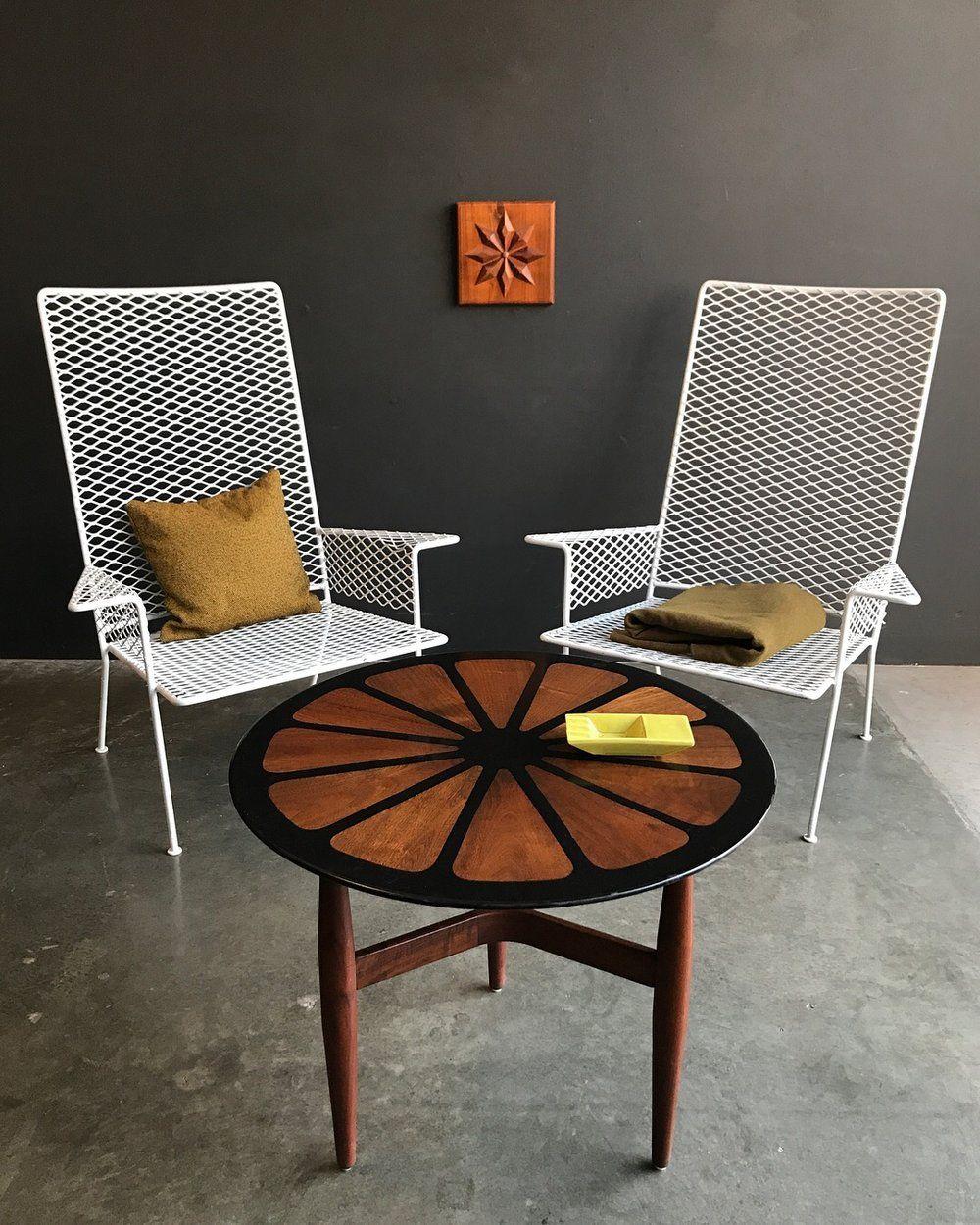 Postwar Modern Metal Lounge Chairs Mid Century Furniture Modern Furniture