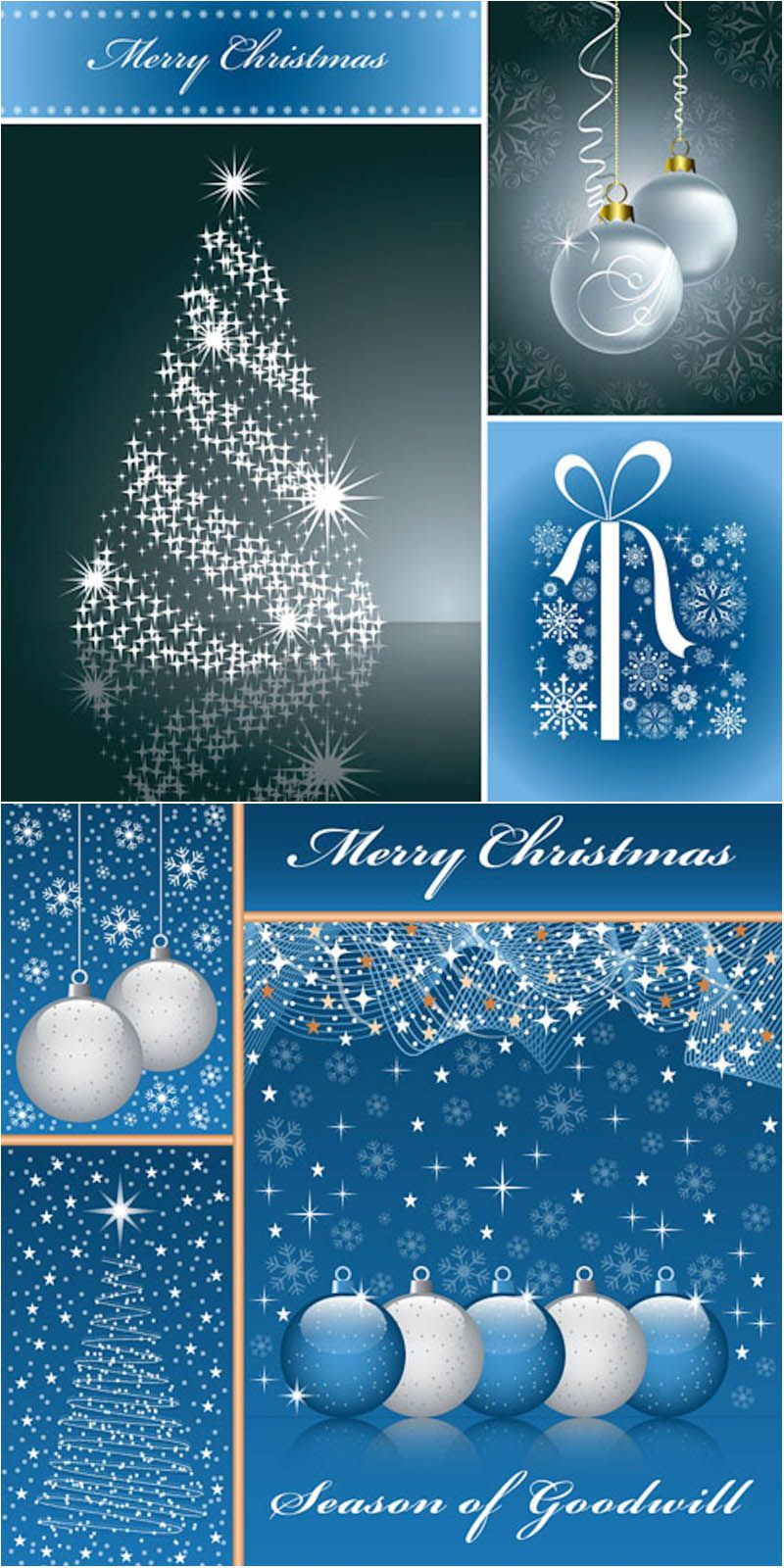 Merry Christmas Backgrounds With Snowflakes Vector Christmas