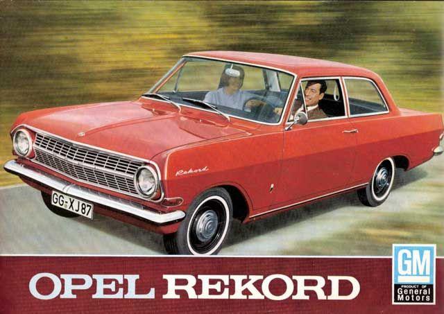 Opel Rekord 2dr  Nr.4 (light blue)