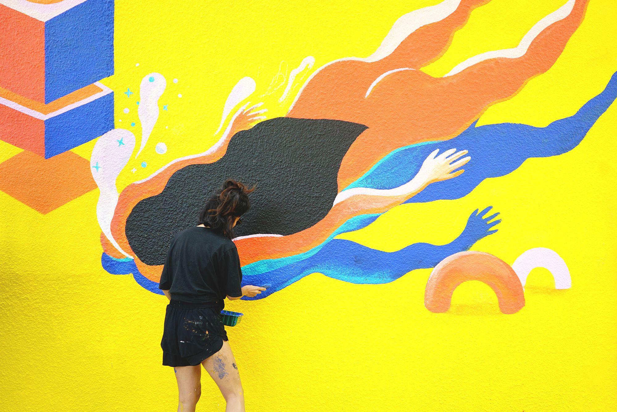 A Public Art Event Residential Murals Public Art Art Public