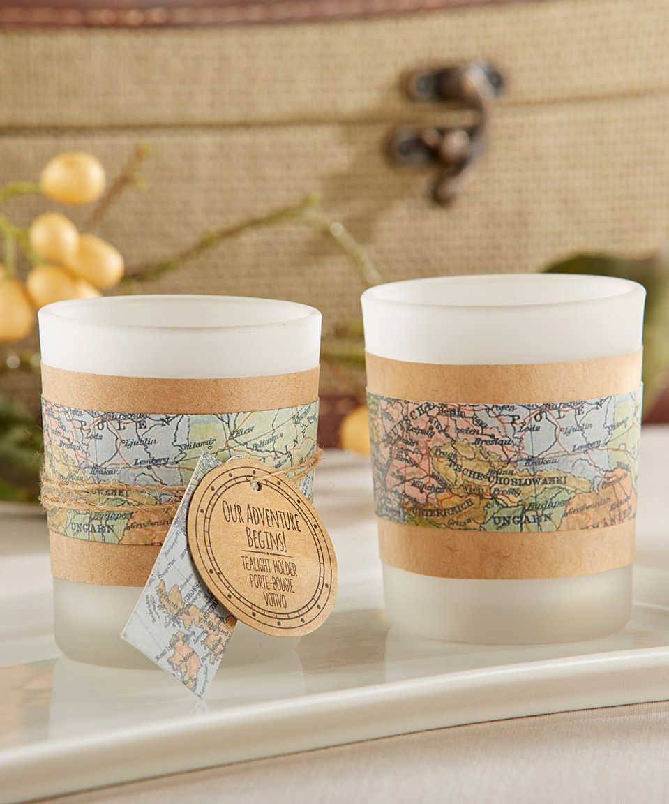 This Vintage Map Tealight Holder - Set of 12 by Kate Aspen is perfect! #zulilyfinds