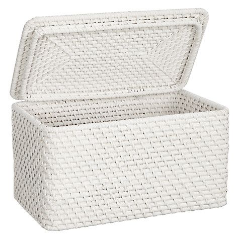Delightful Buy John Lewis Croft Collection Rattan Lidded Storage Box, White Online At  Johnlewis.com